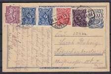 DR P 150 Ganzsache ZuF 224aa, 225, 228P, 241 Fernpost 1923, geprüft Infla