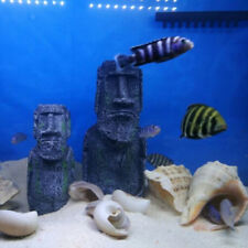 Fish Tank Aquarium Terrarium Background Ornaments Stone Rock Man Statue S