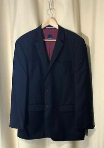 Daniel Hechter Size 112 NR Shape Edward Men's Black Blazer Jacket Suiting wool