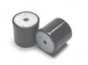 4 Pack: 7 - 90Kg Simple Female / Female Rubber Bobbin Anti Vibration Mount