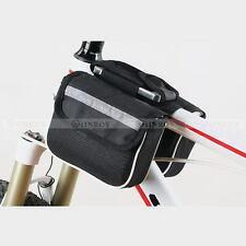 Cycling Bike Bicycle Frame Portable Front Tube Double-Saddle Bag