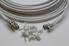 20m White Twin Satellite Shotgun Cable Sky Plus & Clips