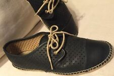 Flat (0 to 1/2 in.) Lace Ups Leather Heels for Women