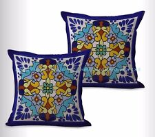 US SELLER, 2pcs decorative Spanish Mexican cushion cover decorative home