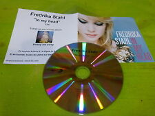 FREDRIKA STAHL - IN MY HEAD !!!!!!!!RARE FRENCH CD PROMO!!!!!!