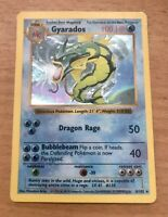 GYARADOS SHADOWLESS HOLO - Pokemon Base Set 6/102 *Lightly Played - See Pics*