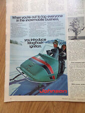 1971 Johnson Snowmobile Ad  Introduce MagFlash Ignition 1972