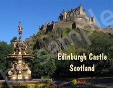 Scotland - Edinburgh Castle - Travel Souvenir Flexible Fridge Magnet