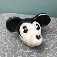 vintage Mickey Mouse bisque porcelain head only needs restoration