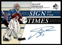 2019-20 UD SP Authentic Sign of the Times Auto #SOTT-PG Philipp Grubauer