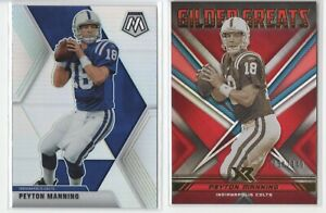 PEYTON MANNING CARD 2 LOT 2020 MOSAIC SILVER & XR GILDED GREATS /149 [SC]