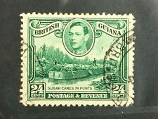 British Guiana  SC # 234a Used   LHM  All Perfs Intact