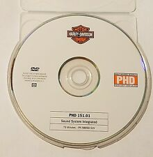 Official Harley-Davidson service training PHD DVD 151.01 Sound System Integrated