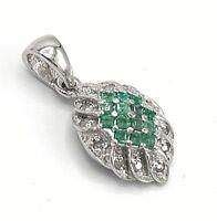 Smaragd Anhänger  Smaragde & Brillanten 925 Sterling Silber