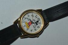 Vintage Lorus Mickey Mouse Watch V501-6N70 Unisex Quartz 26 mm Lizard Strap