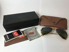 Ray-Ban Aviator Craft Outdoorsman RB3422Q 58-14 Gold Green Polarized