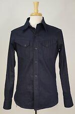 MR. FREEDOM 'Appaloosa Double Indigo' Japanese Denim Western Snap Front Shirt M