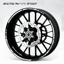 Suzuki GSX-R 750 wheel decals stickers set gsxr750 rim stripe gsxr Laminated wht