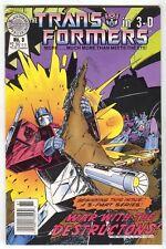 Transformers 3-D 3 Blackthorne 1987 VF 7-11 Eye On LA Glasses Optimus Prime
