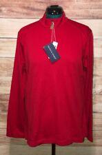 Devon & Jones Women's Red Performance 1/4 Zip Sz XL Drytec Zipper NWT LBB76