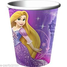 TANGLED SPARKLE 9oz PAPER CUPS (8) ~ Birthday Party Supplies Disney Princess