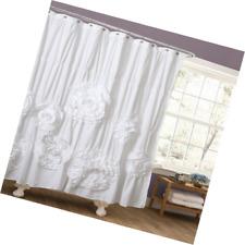 Lush Decor Serena White Shower Curtain