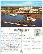 Aerial View Magic Kingdom Monorail Paddlewheel 76 Disney World Florida Postcard