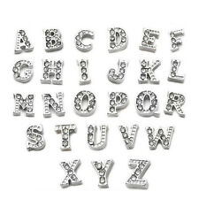 52PCS Fashion Crystal Alphabet Letter Floating Locket Charms