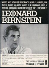 1956 Leonard Bernstein photo Columbia Records vintage print ad