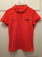 Virginia UVA Cavaliers Womens Cheerleading Team Issued Nike Polo Shirt Small