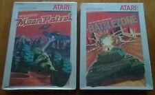 Atari 2600 Moon Patrol, Battlezone BRAND NEW 1983 2 Game Lot FACTORY SEALED NTSC