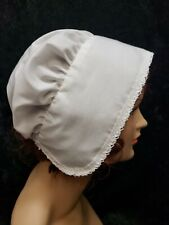 Pilgrim Colonial Wench Peasant womens Coif Bonnet Cap Made in USA  NEW