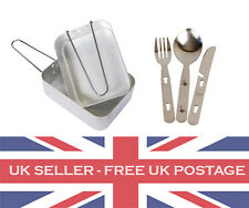 2 x Mess Tins & 1 x Knife Fork Spoon KFS Camping Cooking Billycan Army Cadet ACF