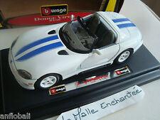 miniature Dodge Viper RT/10   1/24° 18 cm de long Bburago neuve en boite blanche