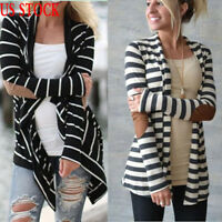Women Casual Cardigan Loose Long Sleeve Knitted Sweater Tops Outwear Coat Jacket