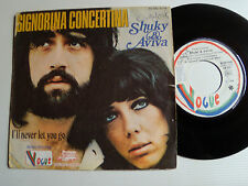 "SHUKY & AVIVA: Signorina concertina / never let you go 7"" 1972 VOGUE 45 RB 4184"