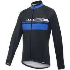 Ropa de ciclismo azul Santini, para hombre