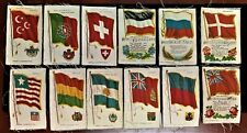 Lot of 12 Nebo & Zira Country Flags Cigarette/Tobacco Silks Nation Songs