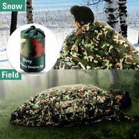 Camping Camouflage Waterproof Reusable Survival Emergency Sleeping Bag Thermal!
