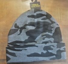 Polo Ralph Lauren Beanie Hat Skull Cap PC0063 012 Grey Black Camo One Size
