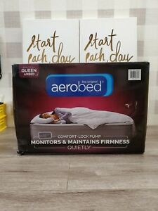 NEW. The Original AeroBed Comfort Lock Air Mattress Gray Queen