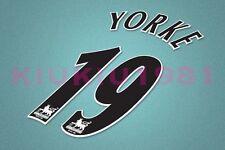 Manchester United Yorke #19 PREMIER LEAGUE 97-06 Black Name/Number Set