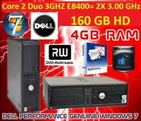 Dell Optiplex 780 Core 2 Duo 2x 3.00 GHz E8400 160 GB HD& 4Gb RAM DVD-RW & WiFi