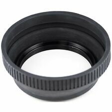 Retractable 46mm Rubber Lens Hood For Canon Nikon Panasonic Sony 46 mm