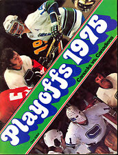 1975 4/19 PLAYOFFS VANCOUVER CANUCKS NM PROGRAM VS MONTREAL CANADIENS KEN DRYDEN