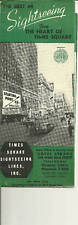 Sightseeing from the Heart of Times Square 1940s Brochure New York City