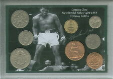Cassius Clay Muhammad Ali First Title Fight Vintage Boxing Coin Gift Set 1964