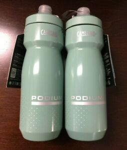 2 NEW Camelbak 24oz Podium Bicycle Water Bottle Sage Green ~Not On Recall List~