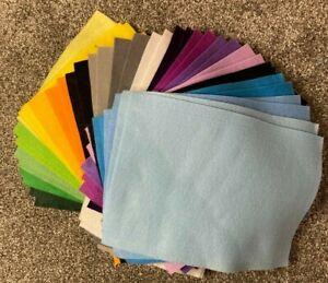 5 packs of A4 felt sheets - various colours - total 40 sheets!