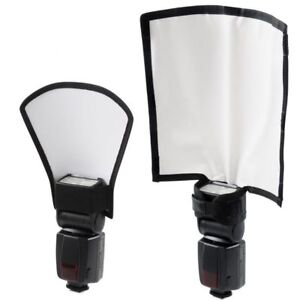 23x13cm Foldable Flash Reflector Snoot & Silver/White Reflector Universal UK